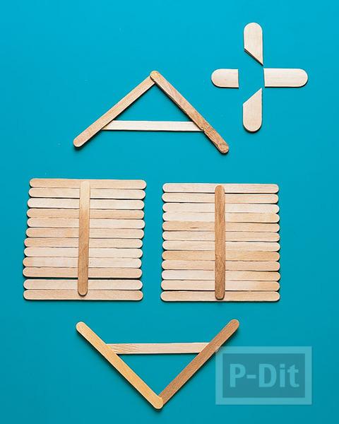 รูป 4 ร้านขายของ ประดิษฐ์จากไม้ไอติม