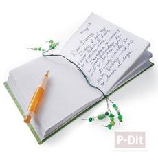 ที่คั่นหนังสือ ทำจากลูกปัด เส้นลวดสีสวย