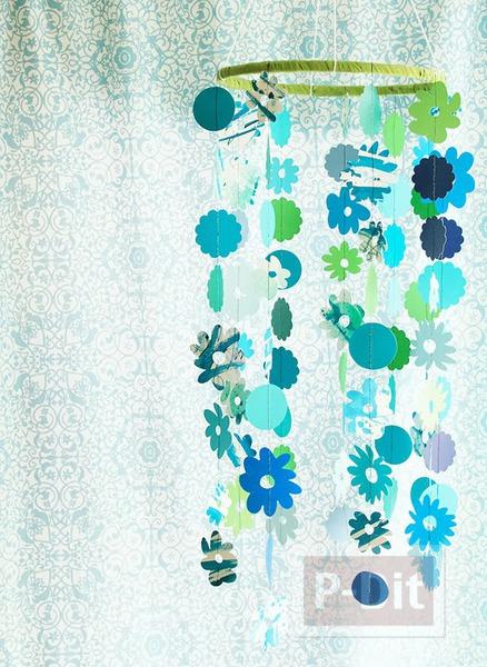 รูป 1 โมบายดอกไม้ ประดับห้อง