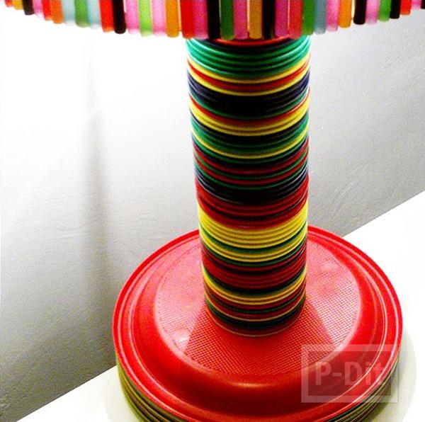 รูป 3 โคมไฟ หลอด แก้ว จาน พลาสติก