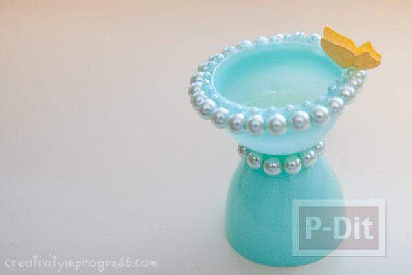 รูป 7 แก้วน้ำแก้วเล็กๆ ทำจากไข่พลาสติก