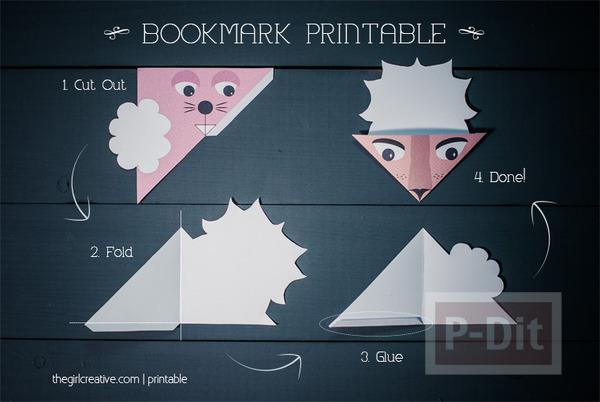 รูป 3 แพทเทิร์นที่คั่นหนังสือ ลายน่ารัก