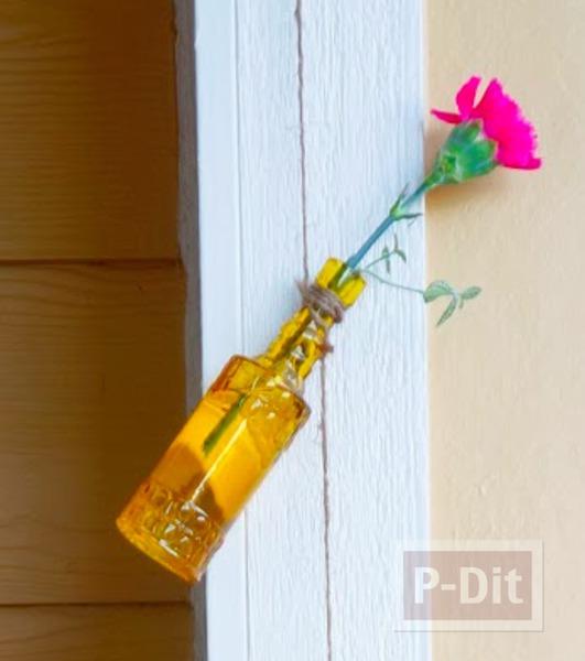 รูป 1 แจกันขวดสีสวย แขวนใส่ดอกไม้ ประดับบ้าน