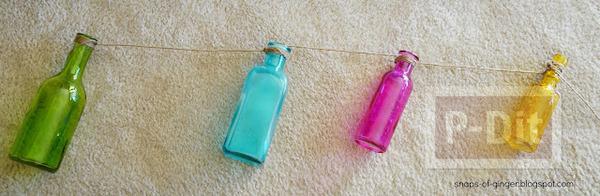 รูป 5 แจกันขวดสีสวย แขวนใส่ดอกไม้ ประดับบ้าน