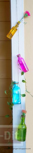 รูป 6 แจกันขวดสีสวย แขวนใส่ดอกไม้ ประดับบ้าน