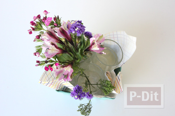 รูป 6 แจกัน ช่อดอกไม้ ทำเอง สวยๆ