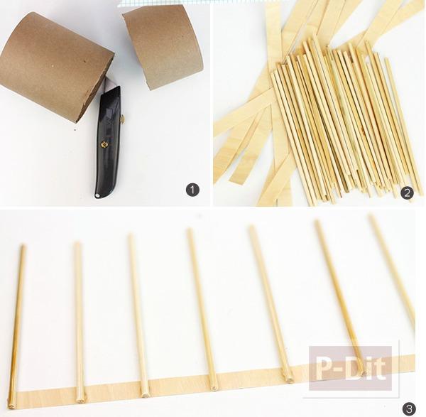 รูป 6 สอนสายตะกร้า ทำจาก กระดาษ และไม้เสียบลูกชิ้น