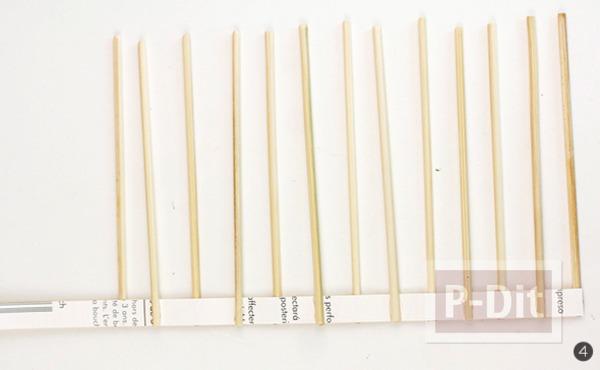 รูป 7 สอนสายตะกร้า ทำจาก กระดาษ และไม้เสียบลูกชิ้น