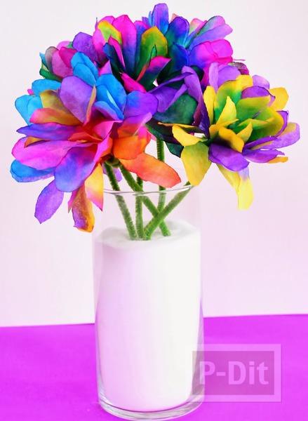 ประดิษฐ์ดอกไม้ จากถ้วยขนมคัพเค้ก