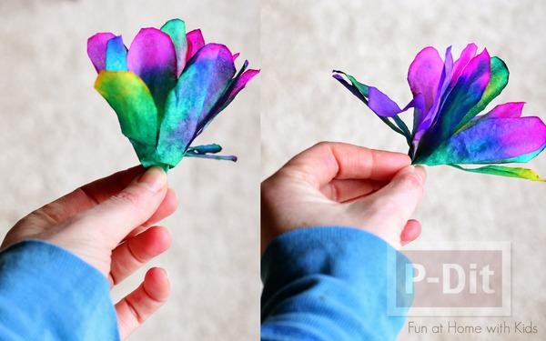 รูป 3 ประดิษฐ์ดอกไม้ จากถ้วยขนมคัพเค้ก