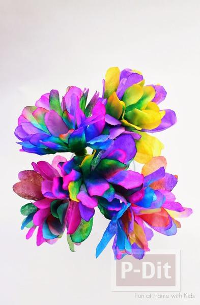 รูป 4 ประดิษฐ์ดอกไม้ จากถ้วยขนมคัพเค้ก