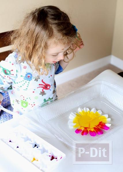 รูป 5 ประดิษฐ์ดอกไม้ จากถ้วยขนมคัพเค้ก