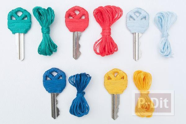 รูป 1 ตกแต่งกุญแจสวยๆ ด้วยเชือก