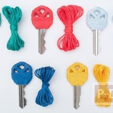 ตกแต่งกุญแจสวยๆ ด้วยเชือก