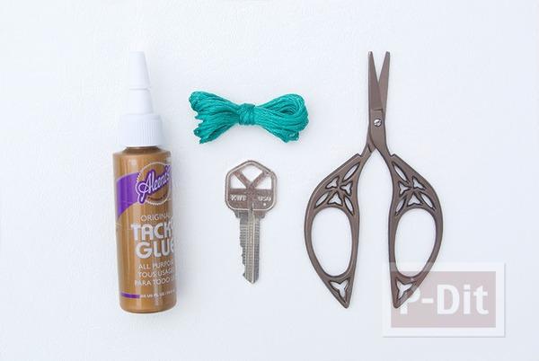 รูป 3 ตกแต่งกุญแจสวยๆ ด้วยเชือก