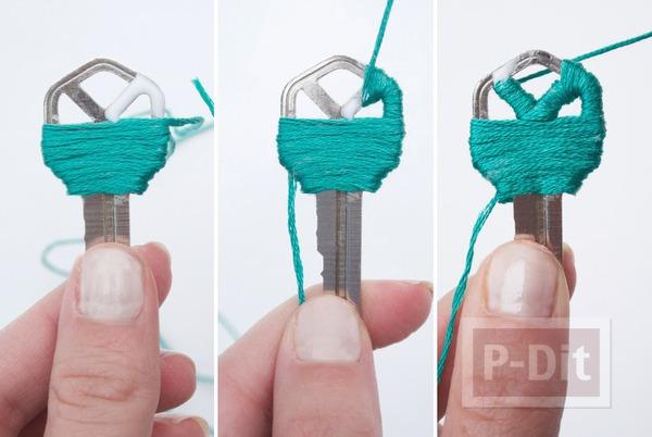 รูป 4 ตกแต่งกุญแจสวยๆ ด้วยเชือก