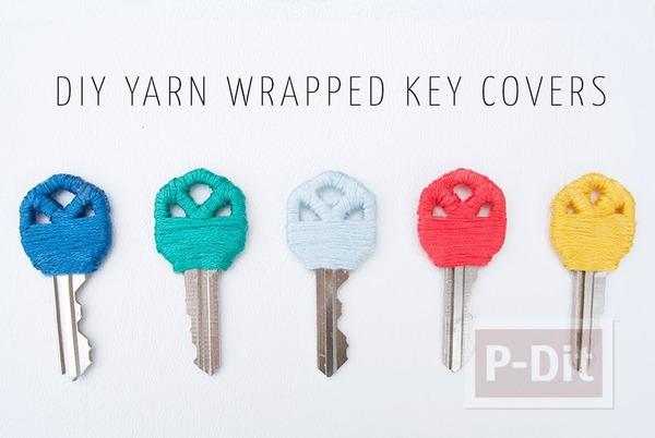 รูป 7 ตกแต่งกุญแจสวยๆ ด้วยเชือก
