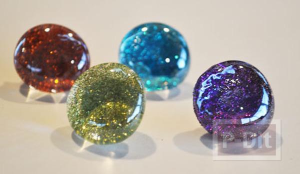 รูป 1 สอนทำหมุดติดบอร์ด แม็กเน็ต ด้วย Glass beads