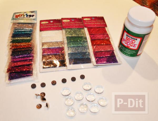 รูป 2 สอนทำหมุดติดบอร์ด แม็กเน็ต ด้วย Glass beads