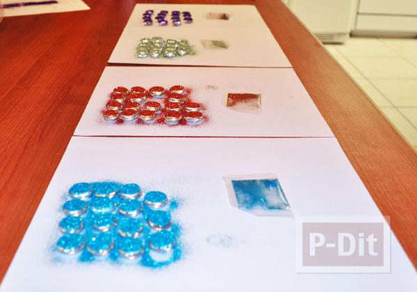 รูป 4 สอนทำหมุดติดบอร์ด แม็กเน็ต ด้วย Glass beads