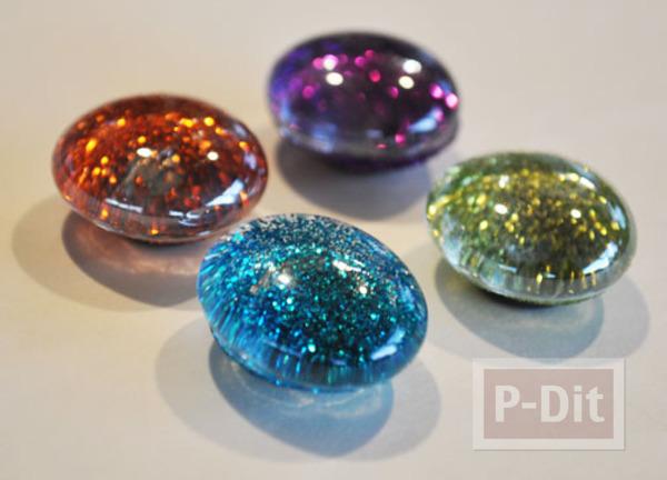 รูป 6 สอนทำหมุดติดบอร์ด แม็กเน็ต ด้วย Glass beads