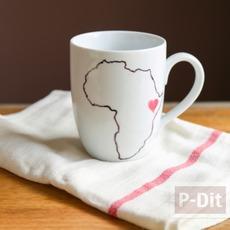 แก้วกาแฟ ตกแต่งลายแผนที่