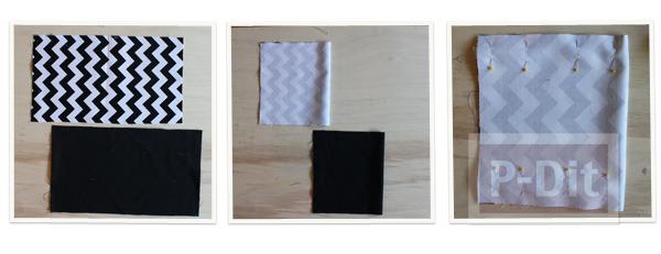 รูป 2 สอนทำถุงถังขยะ ผ้าลาย ประดับโต๊ะทำงาน