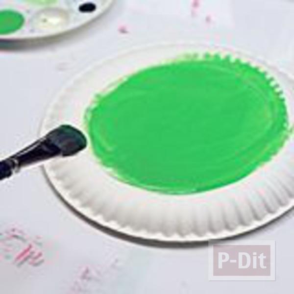 รูป 2 กบ ทำจากจานกระดาษ