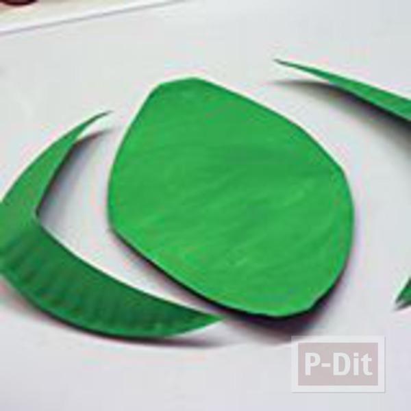 รูป 3 กบ ทำจากจานกระดาษ