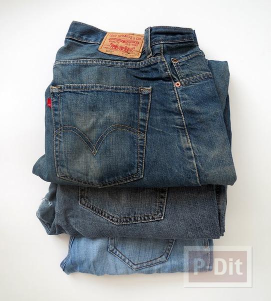 รูป 7 สานตะกร้า จากกางเกงยีนส์ เก่าๆ