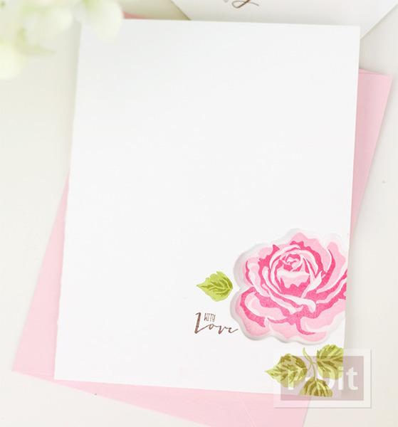 รูป 4 การ์ดลายดอก ปั้มลายสวย
