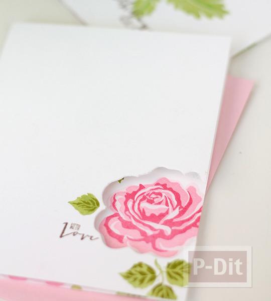 รูป 5 การ์ดลายดอก ปั้มลายสวย
