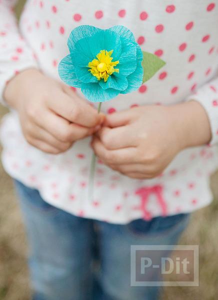 รูป 1 ดอกไม้กระดาษย่น