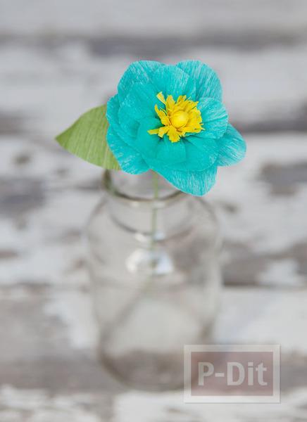 รูป 2 ดอกไม้กระดาษย่น