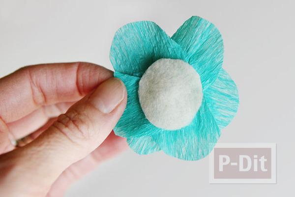รูป 3 ดอกไม้กระดาษย่น