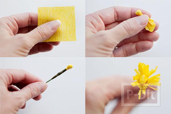 รูป 7 ดอกไม้กระดาษย่น