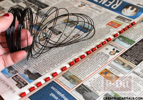 รูป 4 กำไลข้อมือสวยๆ ทำจากลวด และสปริง