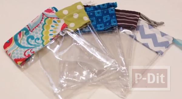 เย็บถุงใส่ของ จากพลาสติกและผ้า