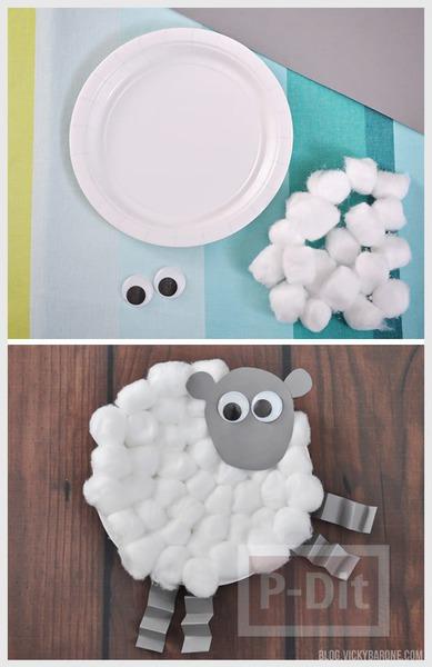 รูป 5 สัตว์น่ารัก ประดิษฐ์จากจานพลาสติก