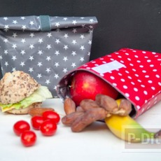 ทำถุงใส่อาหารกลางวัน เย็บเองสีสวย