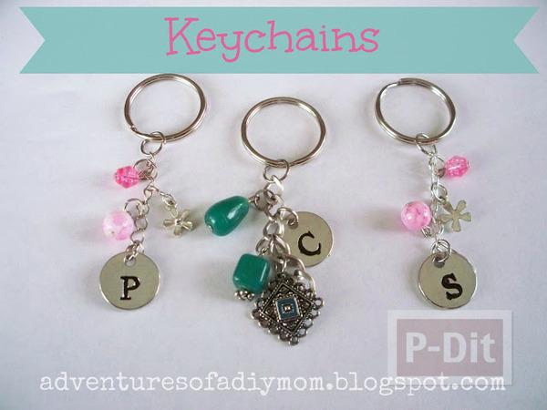 รูป 6 พวงกุญแจสวยๆ ตกแต่งเอง จากโซ่พร้อมจี้