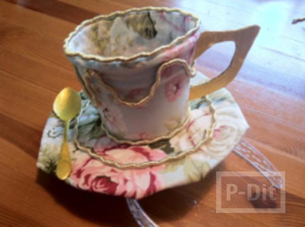 รูป 6 หมวกแก้วกาแฟ ทำจากกระดาษ