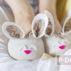 รองเท้าใส่ในบ้าน ลายกระต่าย