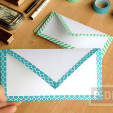 สอนพับซองจดหมาย ลายน่ารัก
