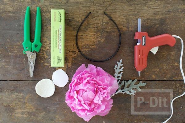 รูป 7 ทำที่คาดผม ลายดอกไม้