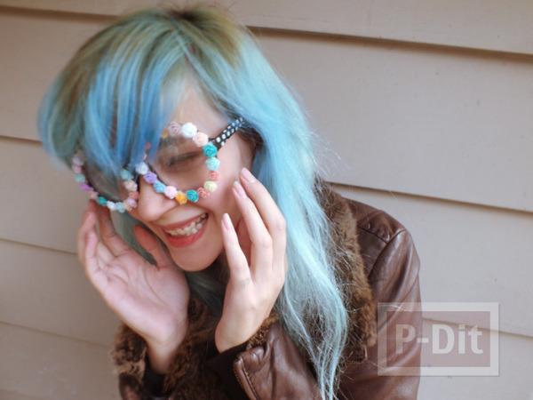 รูป 3 แว่นตา ตกแต่ง ลายดอกกุหลาบ