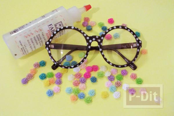รูป 7 แว่นตา ตกแต่ง ลายดอกกุหลาบ