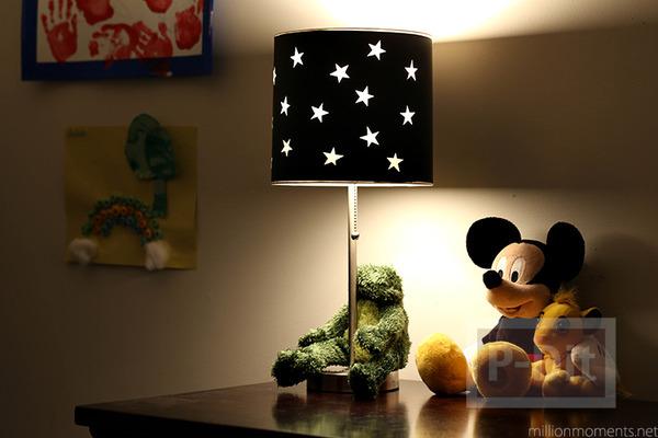 รูป 1 โคมไฟ ตกแต่งลายดาว น่ารัก
