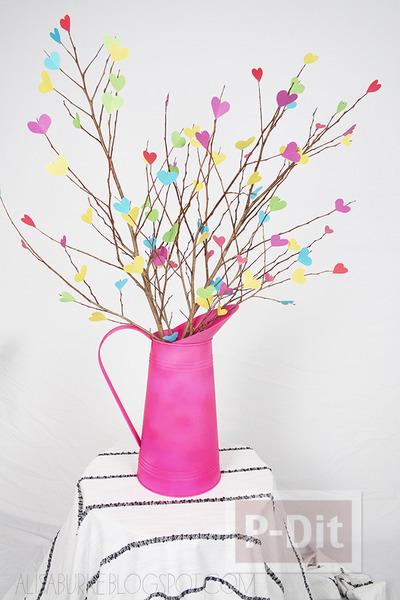 รูป 1 ของประดับบ้าน ต้นไม้กระดาษ รูปหัวใจ