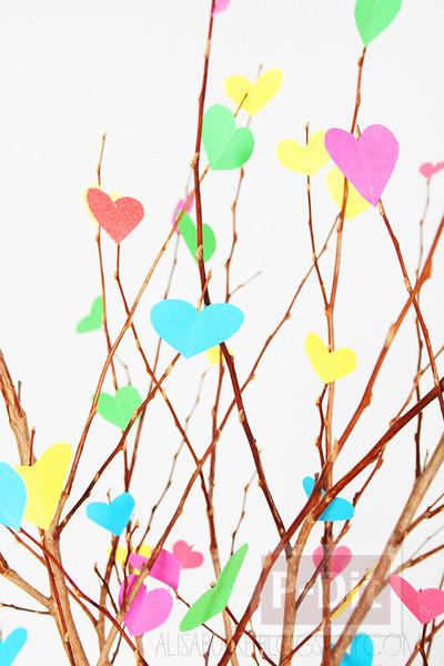 รูป 4 ของประดับบ้าน ต้นไม้กระดาษ รูปหัวใจ